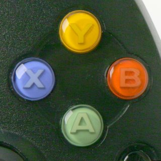 A fairly standard button layout